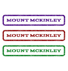 Mount mckinley watermark stamp vector