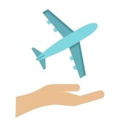 Plane logo flat style vector image