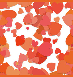 Seamless random heart background pattern - design vector