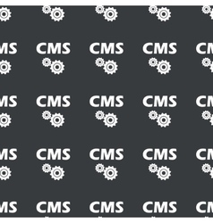 Straight black cms settings pattern vector