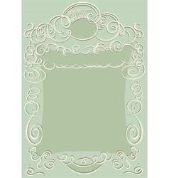 Swirling design frame vector