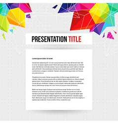 Template for Your business presentation Geometric vector image vector image