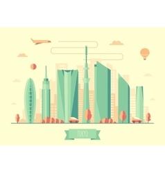 Tokyo skyline architecture design vector