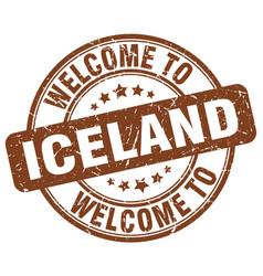 Welcome to iceland vector