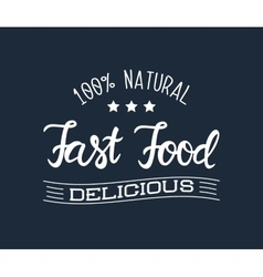 White logo for the fast food restaurant and vector