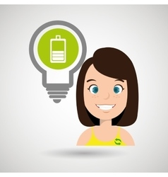 woman and environment isolated icon design vector image vector image