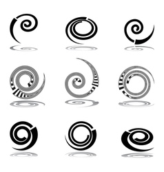 Helix design elements vector