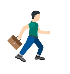 Running with briefcase vector