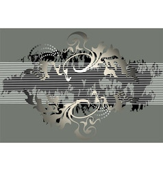 Banner steel gray color vector image