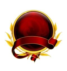 Emblem red vector image
