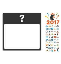 Unknown Day Calendar Page Flat Icon With vector image