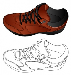 image of sport shoes vector image