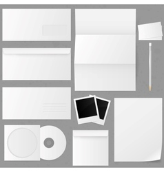 Set of paper envelopes vector