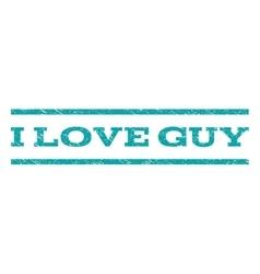 I love guy watermark stamp vector