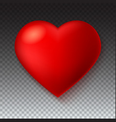 big red a scarlet heart isolated on transparent vector image