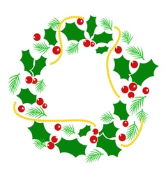 Abstract christmas wreath vector