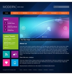 Modern website design template vector