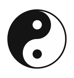 Ying yang icon simple style vector image