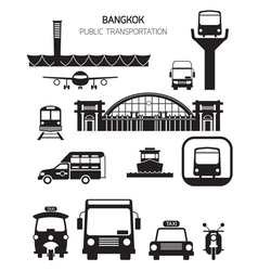 Thailand Transportation Objects vector image