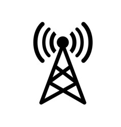 Antenna signal sign and isolated white vector