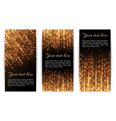 banners with golden sparkles vector image vector image