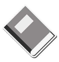 Book close label design vector