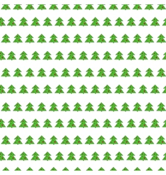 Christmas tree seamless pattern on white vector