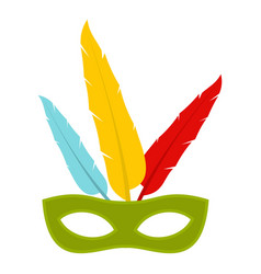 Colorful carnival mask icon isolated vector