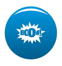 Comic boom big icon blue vector
