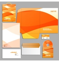 corporate identity template vector image