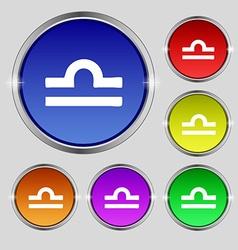 Decorative Zodiac Libra icon sign Round symbol on vector image