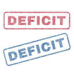 Deficit textile stamps vector