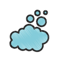 Dental foam isolated icon vector
