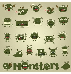 doodle monster vector image