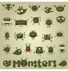 Doodle monster vector