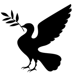 Dove black vector
