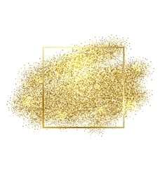 Gold sparkles on white background Gold glitter vector image vector image