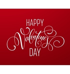 Happy valentines day hand drawing lettering design vector
