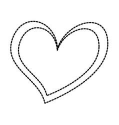 heart love romance passion feeling symbol vector image vector image