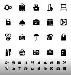 Home storage icons on white background vector image vector image