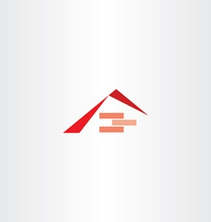 house construction roof brick logo vector image vector image