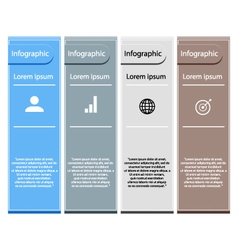 Infographic workflow layout di vector image vector image