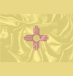 New mexico state silk flag vector