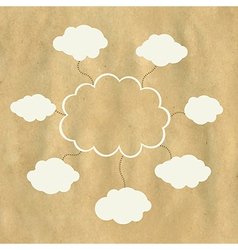 Old paper and web cloud vector