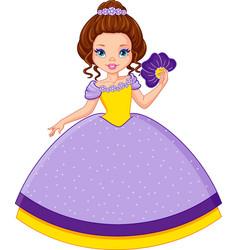 Princess violet vector