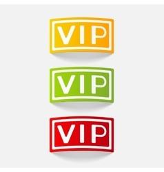 Realistic design element vip vector