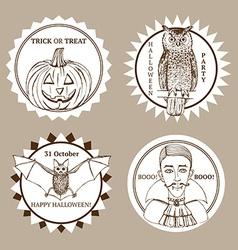 Sketch halloween label vector