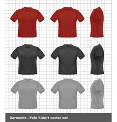 t-shirt set vector image
