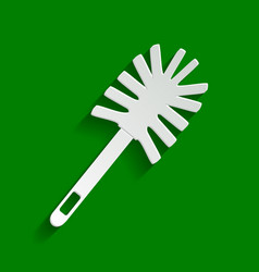 Toilet brush doodle paper whitish icon vector
