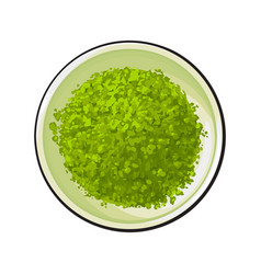 top view drawing of matcha green tea powder in vector image vector image